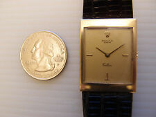 GENUINE ROLEX SOLID 18K GOLD 24MM MEN'S 5071 CELLINI VERY THIN MECHANICAL WATCH