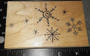 Beautiful snowflakes, great impressions,282,rubber, wood