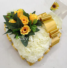 Christmas Artificial Silk Funeral Flower Heart Tribute False Flowers Memorial