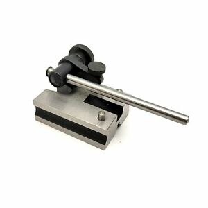 "PEC Tools 5033-004 Surface Gauge Base With 4"" Spindle V-Groove Fully Hardened"