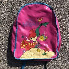 Vintage Rare 90s Disney The Little Mermaid Pyramid Handbags Backpack