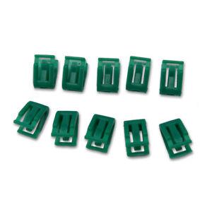 Fits Isuzu D-Max 2012 19 Clip Lock Radio Console 10 pcs Green