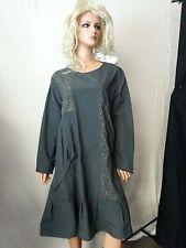 NWT C' FAIT POUR VOUS Paris Dress Gray Baggy Textured Patch Goth Steam Punk M/L
