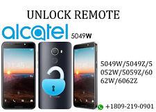 Remote Unlock Services Alcatel 5049W/5049Z/5052W/5059Z/6062W/6062Z