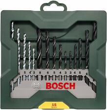 Bosch Mini-X-Line Set 15 Pezzi Punte per Trapano - Verde/Grigio (2607019675)