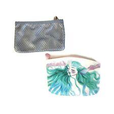 Ipsy Set Of 2 Makeup Cosmetic Bags Travel Clutch Mermaid Zip Perforated