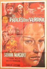 Il Processo di Verona 1963 Movie Poster One Sheet ~ Silvana Mangano ~ Spanish