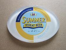 Marston Thompson Evershed Summer Wheat Beer Plastic Oval T Bar Pump Badge