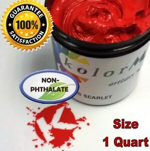 GEN Opaque Scarlet Premium Plastisol Ink for Screen Printing Non Phthalate QUART
