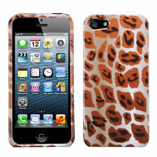For Apple iPhone 5 5S SE HARD Protector Case Snap On Phone Cover Giraffe Spots