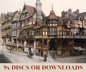 TOP PRINTS Business - c1900 ENGLAND COLOUR PHOTOCHROMS 9-DVDs of LARGE Images