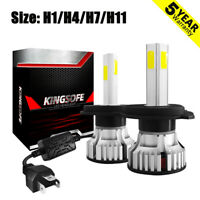 4 Side 360° H1 H4 H11 H7 LED Headlight KIT 48000LM Canbus Error free 6500K White