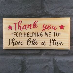 Thank You Teacher Sign, Classroom Name Plaque End Of Term Gift Nursery Staff