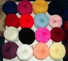 Lot of 16 different color 1 oz skein yarn balls Mill Ends 3 ply and 4 ply