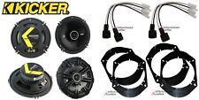 2 Pair Kicker DSC650 6.5 Speakers + Front / Rear Adapters + Harness