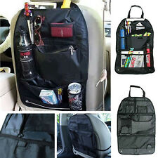 Multi-Pocket Car Back Seat Organizer Storage Bag Protector For Children Kick Mat