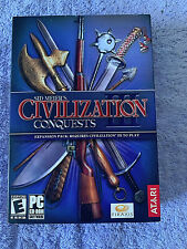 PC Sid Meier's Civilization 3 III Conquests Expansion New in Box Strategy Game