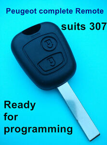 PEUGEOT 307 complete Remote Key with electronics and transponder