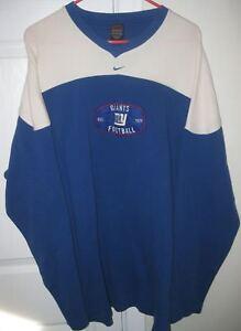 NFL New York Giants Mens Long Sleeve V-Neck Sweatshirt XXL by Nike