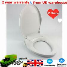 Non Electric Toilet Bidet Seat Self-Cleaning Dual Nozzle Sprayer V-Shape UK SHIP
