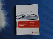 Nemes and Coss' Effective Legal Research 6TH Edition