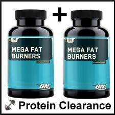 2 x Optimum Nutrition ON Mega Fat Burners 60 Tablets Tab L-Carnitine BBE 11/2015