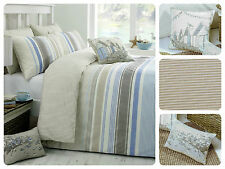 Duvet Quilt Cover Bedding Set Reversible Traditional Striped Stripe Reverse New