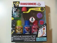 Transformers Bathtub Fingerpaint Finger Paint Set (Brand New and Sealed