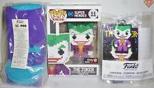 """JOKER DC Pop 8-BIT 4"""" Vinyl Figure #11 with Socks & Lanyard Funko Game Stop 2017"""