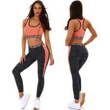 Mujer Fitness Deporte Set de Dos Piezas Entrenamiento Yoga Camiseta sin Mangas