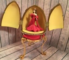 Avon Barbie countess of Rubies 2001 red resin egg brunette musical collectible