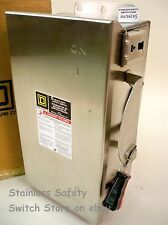 Square D Stainless HU362DS 60a 600v Non-Fused Safety Switch  53 Available NEW