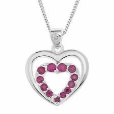 Heart Ruby Fine Diamond Necklaces & Pendants