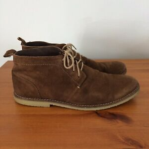 Mens Brown Suede Desert Chukka Boots UK 8 Lightweight Shoe Blake