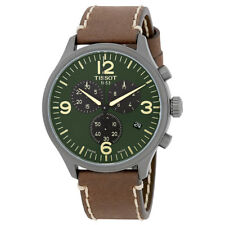 Tissot T-Sport Chronograph XL Olive Green Dial Mens Leather Watch