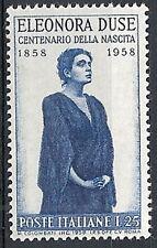 1958 ITALIA ELEONORA DUSE MNH **