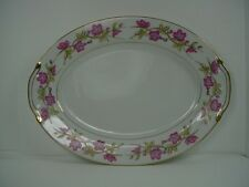 VALMONT china BRIAR ROSE pattern OVAL MEAT Serving PLATTER 12""