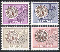France 1976 Coins/Money/Commerce/Pre-cancel/History 4v set (n40257)