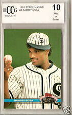 1991 STADIUM CLUB BCCG 10 SAMMY SOSA