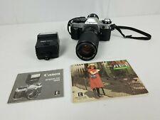 Canon AE-1 Program 35mm SLR Film Vintage Camera Speedlite Vivitar 35-105MM Lens