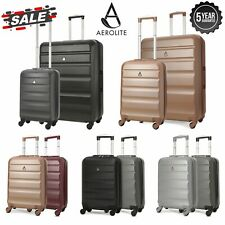 Aerolite Hard Shell Small Large Carry On Cabin Hand / Hold Luggage Suitcase Sets