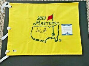 ADAM SCOTT SIGNED 2013  AUGUSTA NATIONAL MASTERS PIN FLAG BECKETT CERTIFIED