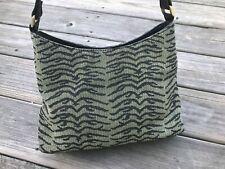 Bueno Women Handbag Green/Black Fabric Shoulder Bag