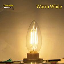 E17 Retro LED COB Bulb Dimmable Filamet Light Lamp 2W 4W 6W Candle led AC110V