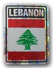 Wholesale Lot 6 Lebanon Country Flag Reflective Decal Bumper Sticker
