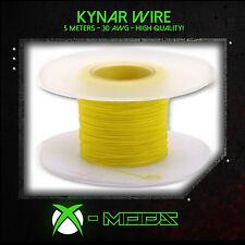 Kynar Wire-Amarillo - 5 Metros / 15 Pies-Xbox Wii Ps3 360 Mod Modding De Regalo