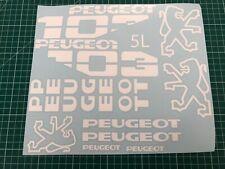 1 planche Autocollant  Peugeot 103 sp spx rcx chrono  couleur au choix ref:5