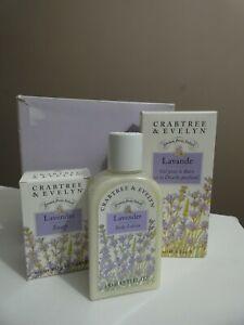 Crabtree & Evelyn Lavender Portrait Box Set Soap, Lotion & Shower Gel