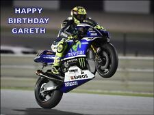 A4 VALENTINO ROSSI YAMAHA EDIBLE ICING BIRTHDAY CAKE TOPPER