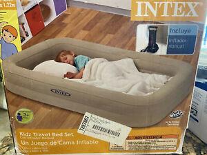 "Intex Kidz Travel Bed Set 42""x 66""x 10"" with hand pump"